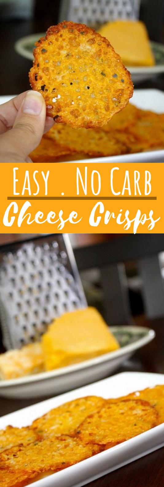 Homemade Baked Cheese Crisps #healthy #keto