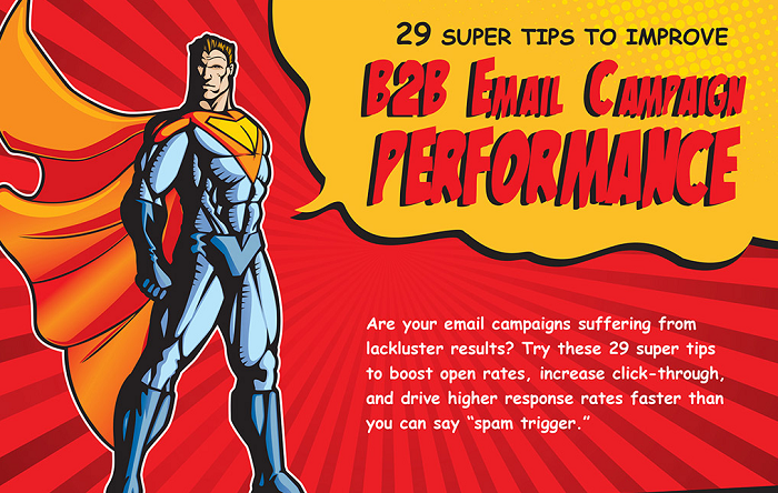 29 Super Tips To Improve B2B Email Campaign Performance - #Infographic #marketing