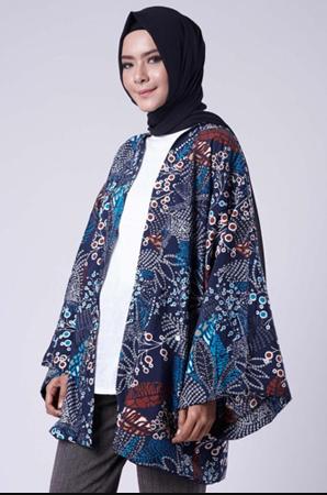 Busanamuslim 20 Model Outer Batik Kekinian Cocok Untuk Ngantor