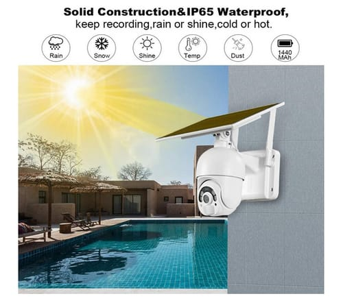 FUVISION Solar Battery Powered Outdoor Security Camera