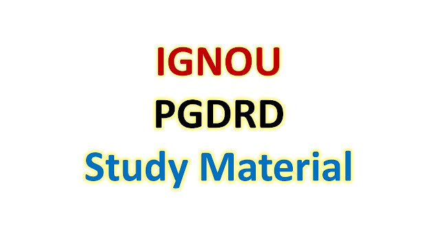 IGNOU PGDRD Study Material