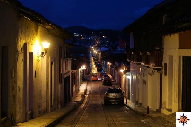 San Cristóbal de Las Casas, al calar della sera
