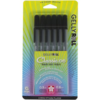 Gelly Roll Gel Pen Set, Fine, Black