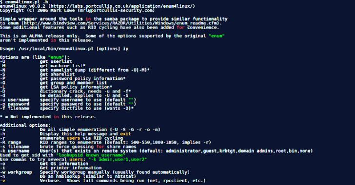 Enum4Linux : A Linux Alternative To Enum.Exe