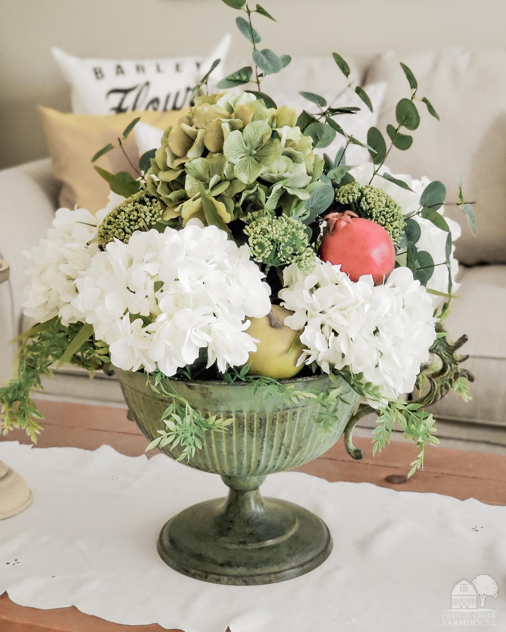Fall Farmhouse Floral Arrangement