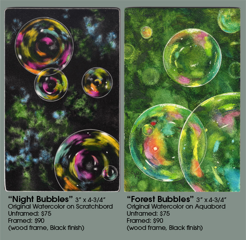 NIght Bubbles and Forest Bubbles