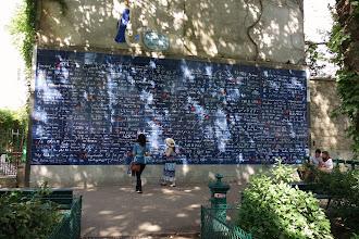 Paris : Mur des je t'aime - Square Jehan Rictus à Montmartre - XVIIIème