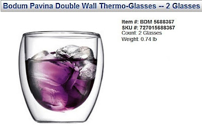 vitacost bodum pavina double wall thermo glasses