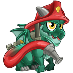 Appearance of Firefighter Dragon when baby