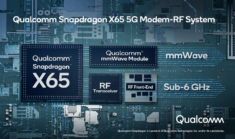 Qualcomm outs X65 5G modem, the first with up to 10 Gbps speeds