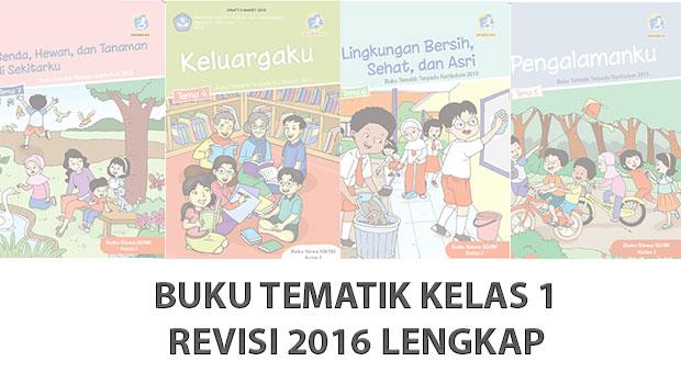 Buku Kurikulum 2013 Kelas 1 SD/MI Revisi 2016 Lengkap