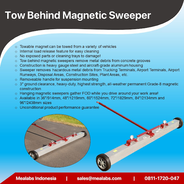T-Series Tow Behind Magnetic Sweeper