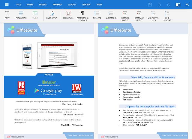 Tampilan Aplikasi OfficeSuite Pro + PDF