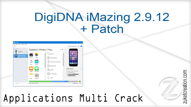 DigiDNA iMazing 2.9.12 + Patch  |  122 MB