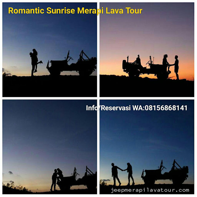 spot photo sunrise merapi untuk prewedding