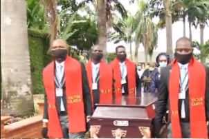 "Veteran highlife musican,""Dr Victor Abimbola Olaiya"" was buried today in lagos"