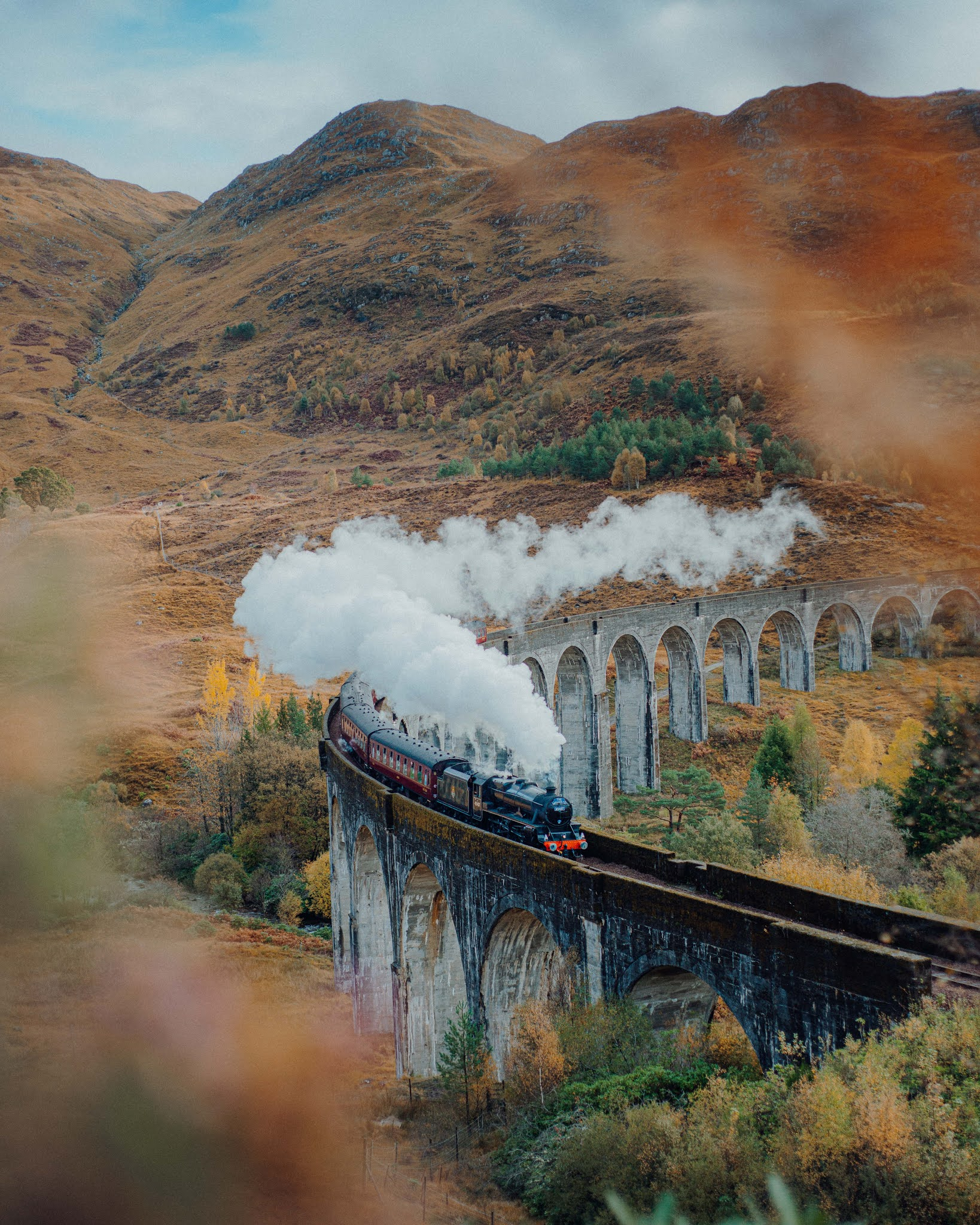 How to Take Iconic Glenfinnan Viaduct Photos - Train Photo Spot