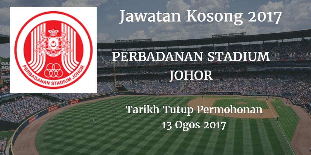 Jawatan Kosong PERBADANAN STADIUM JOHOR 13 Ogos 2017