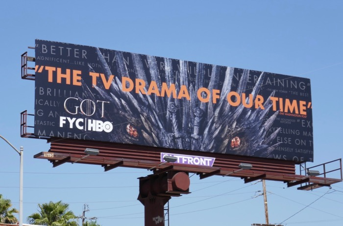 Game of Thrones final season Emmy FYC billboard