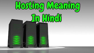 Hosting Meaning In Hindi