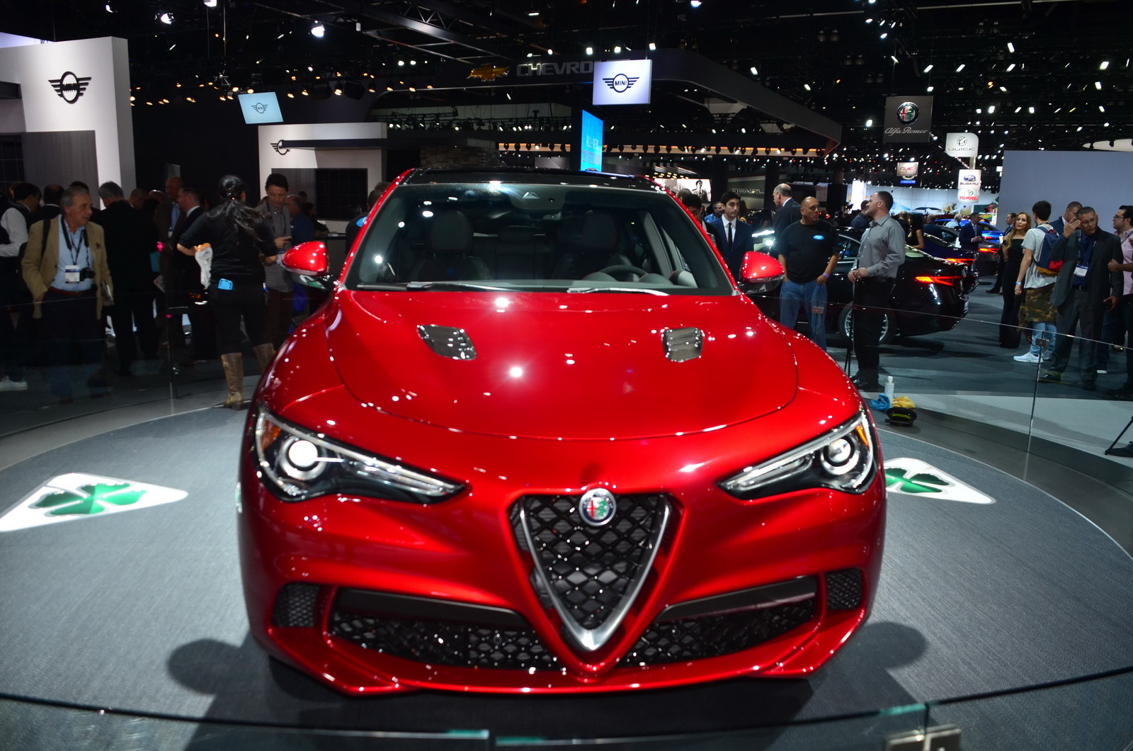 alfa romeo stelvio qv promises to be faster than a cayenne turbo s around the ring carscoops. Black Bedroom Furniture Sets. Home Design Ideas