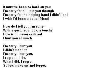I Am Sorry Poems 1