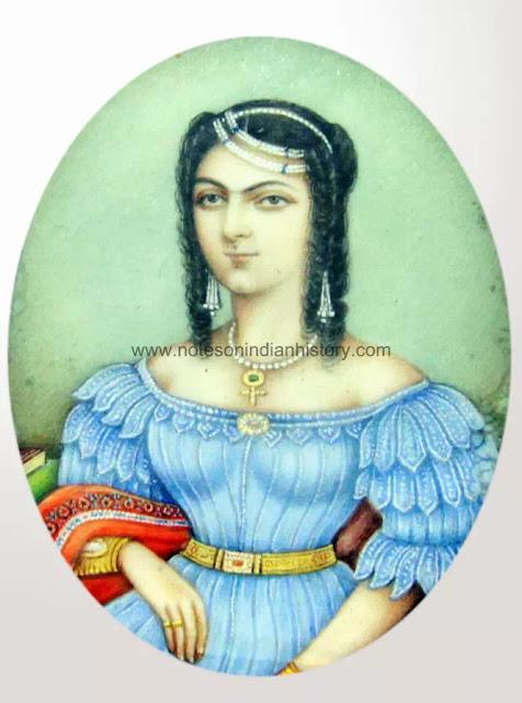 miniature of a young indian princess