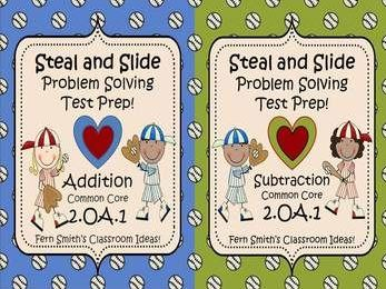 Fern Smith's TEST PREP for Valentine's Day - Addition and Subtraction Word Problems