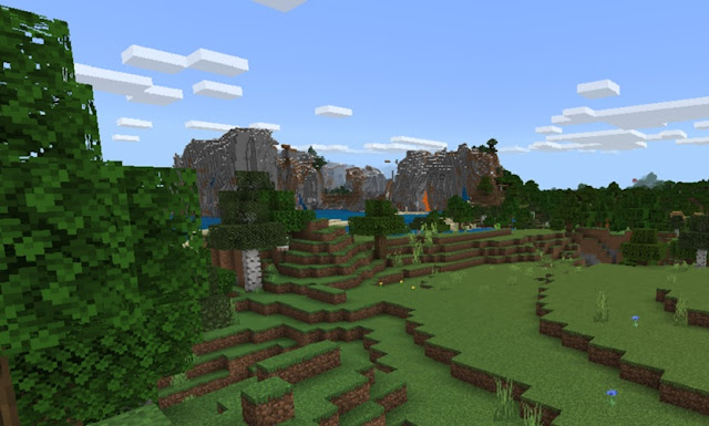 Hills and mountains in Minecraft
