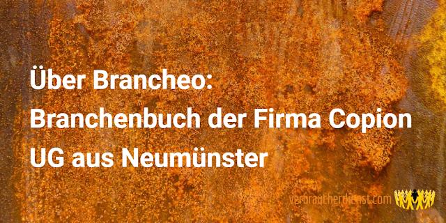 Titel: Über Brancheo – Branchenbuch der Firma Copion UG aus Neumünster