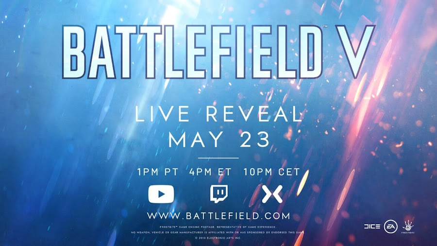 battlefield v official reveal stream