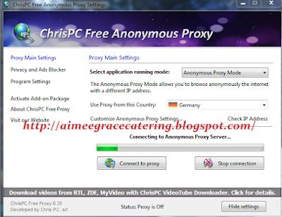 ChrisPC Free Anonymous Proxy 2016