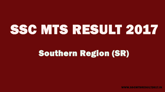 SSC MTS Southern region result 2017