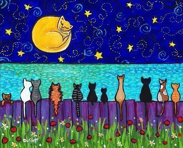 Resultado de imagen para pinturas de gatos