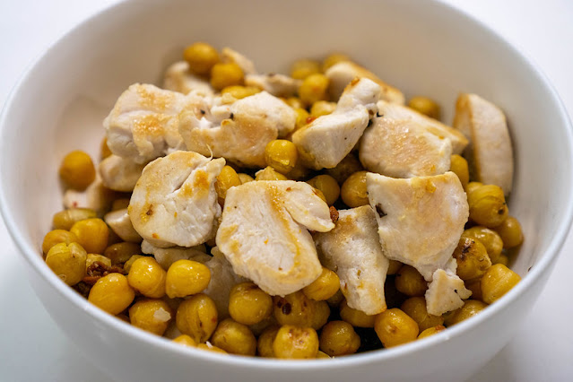 How To Make Cumin Roasted Chickpea Chicken Bowls