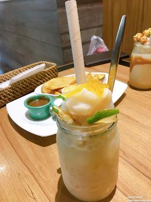 冰涼檸檬茶柚子冰沙