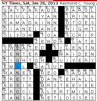 entertainment world: Rex Parker Does the NYT Crossword ...