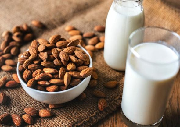 Is almond milk more healthier than soy milk? Pic of almond milk