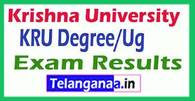 Krishna University KRU Degree/Ug Exam Results