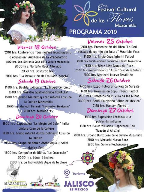 programa festival flores mazamitla 2019