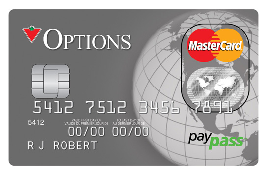 canadian tire options mastercard financial services