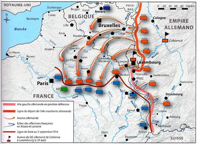 Les troupes allemandes sont arrêtées sur la Marne par Joffre