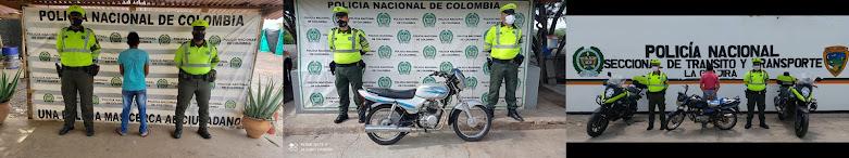 hoyennoticia.com, Localizan dos motos robadas en la vía Riohacha- Maicao