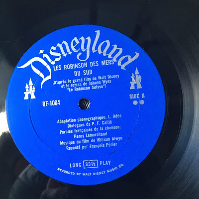 French Canadian Disneyland Record Swiss Family Robinson, Side 2