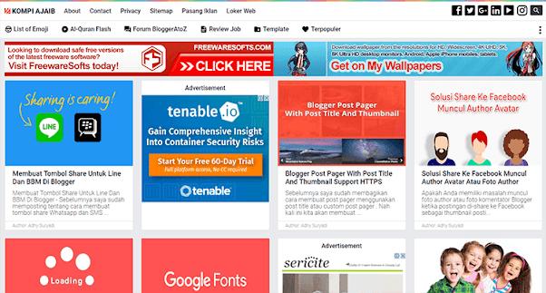 Premium Blogger AMP Template - Kompi Ajaib AMP HTML