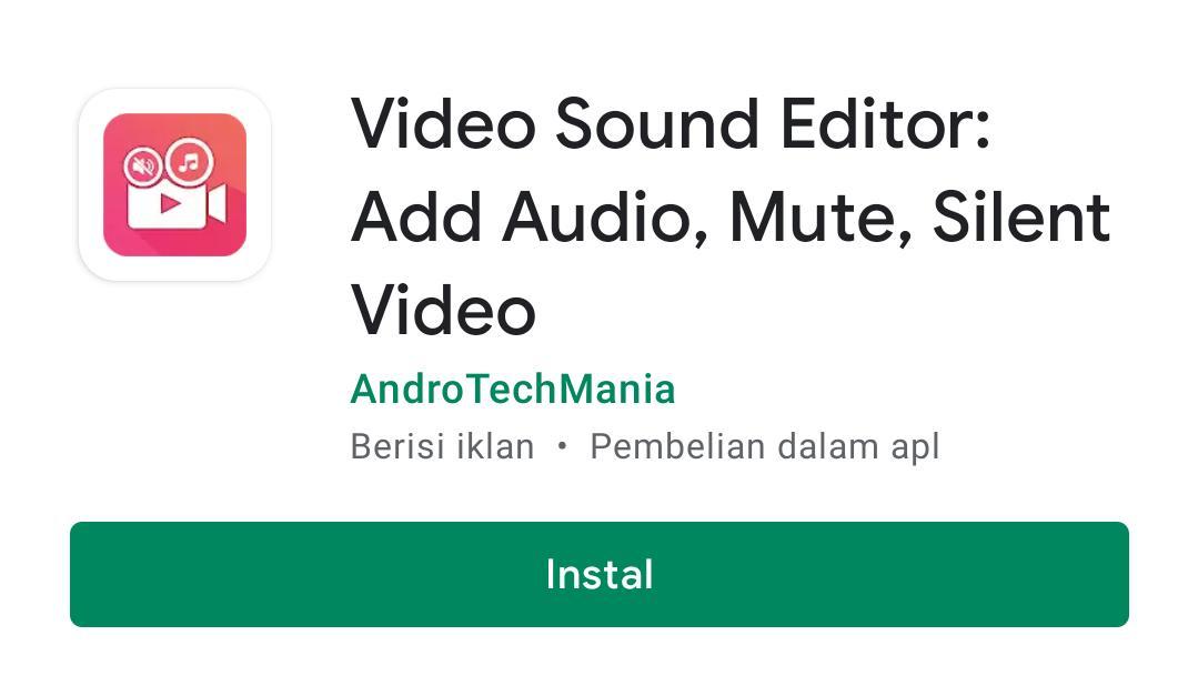 cara menghilangkan suara video