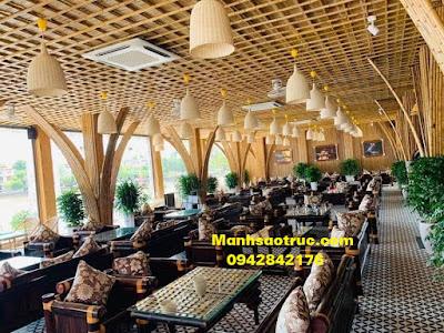Thi công tre trúc cho nhà hàng