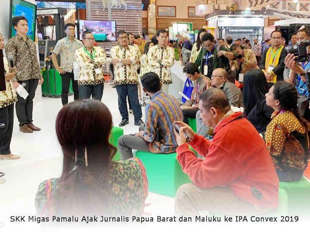 SKK Migas Pamalu Ajak Jurnalis Papua Barat dan Maluku ke IPA Convex 2019