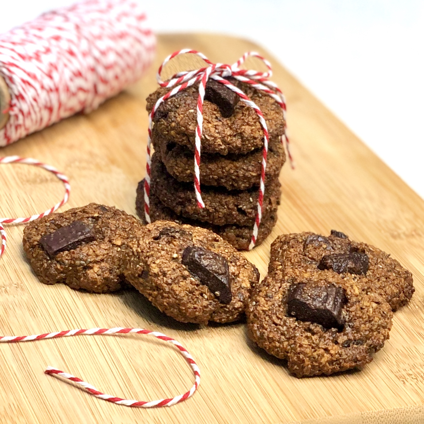 Cookies Veganos de Banana com Chocolate