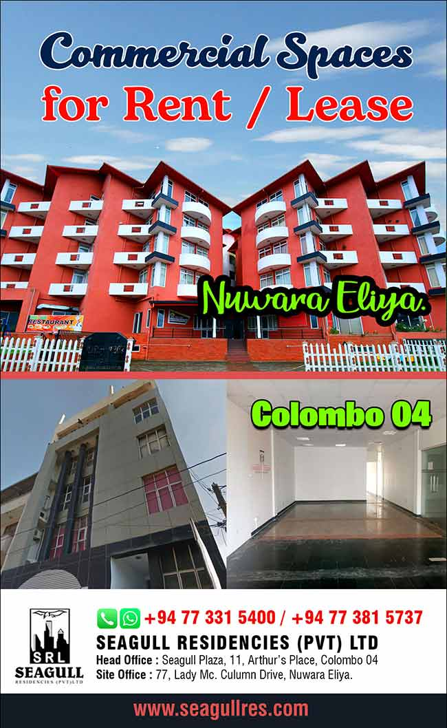 Commercial Space for Rent / Lease @ Colombo & Nuwara Eliya